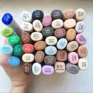 41 Piece Copic Markers